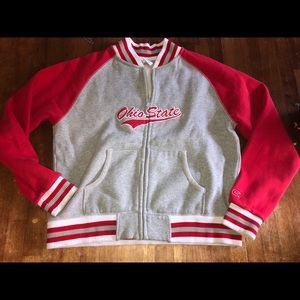 Colosseum Ohio state sweatshirt jacket bomber l